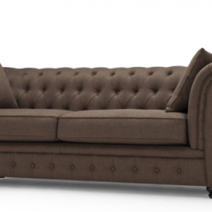 Canapea fixa tapitata cu stofa Chesterfield All Brown